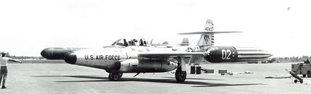 F-89H-5-NO Scorpion 54-0402, 445th FIS, 1956 - Wurtsmith Air Force Base