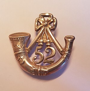52nd (Oxfordshire) Regiment of Foot - Cap badge of the 52nd (Oxfordshire) Regiment of Foot