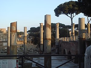 Basilica Ulpia - Remains of the Basilica Ulpia in Rome, a part of Trajan's Forum