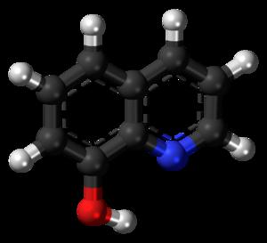 8-Hydroxyquinoline - Image: 8 Hydroxyquinoline 3D ball