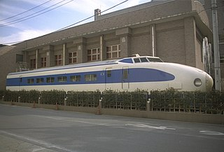 Experimental Japanese shinkansen train