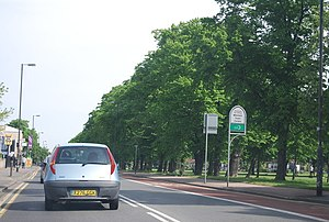 A217 road - The A217, passing Figges Marsh in Mitcham
