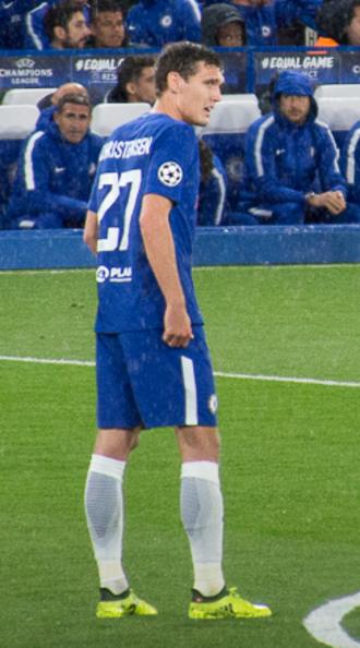 Andreas Christensen - Christensen playing for Chelsea in 2017