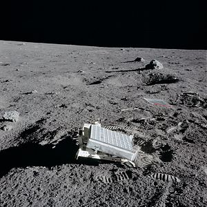 Third-party evidence for Apollo Moon landings - AS14-67-9386: Retroflector left on the Moon by Apollo 14