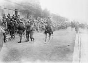 ANZAC Mounted Division with German prisoners