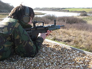 Army Cadet Force - A Cadet Fires the L98A1 GP Rifle