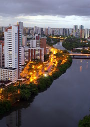 Recife at evening.