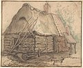 A Farm Building; verso- Head of a Woman and Slight Sketch of Woman Holding a Child MET DP801115.jpg