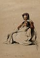 A Hebrew woman, seated, holding her child. Wellcome V0050635.jpg