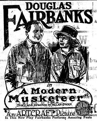 A Modern Musketeer - Newspaper advertisement