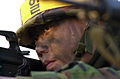 A ROK (Republic of Korea) Army soldier awaits an attack during an amphibious assault by ROK and U.S. Marines on Tok Sok Ri beach, north of Pohang, Korea on March 23, 2002 as part of Exercise RSOI-Foal Eagle 020323-A-MX570-017.jpg