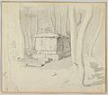 A Stone Tomb in a Forest; verso- Study of a Flower MET DP838067.jpg