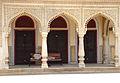 A facade of Mubarak Mahal, City Palace, Jaipur.jpg