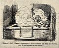 A man in a bath. Wood engraving. Wellcome V0020046.jpg