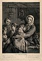 A poor woman in a dingy attic, surrounded by her children, o Wellcome V0015029.jpg