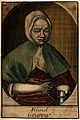 A portrait of an old woman with a tankard of beer. Coloured Wellcome V0015898.jpg