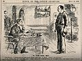 A seaman telling the ship's doctor that hard work is bad for Wellcome V0011442.jpg