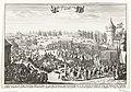 Aankomst van Willem III in Engeland, 1688 Het lande van syn K. Hoogh. in Engelant (titel op object), RP-P-OB-82.579.jpg