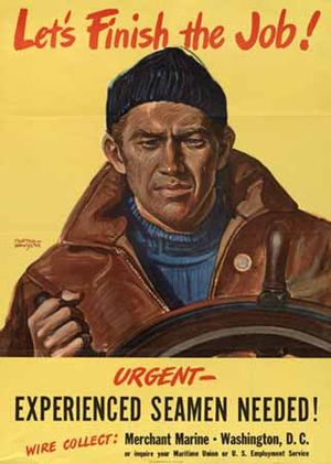 Merchant navy - A United States World War II recruiting poster for the merchant marine