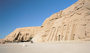 Abu Simbel, both temples, Egypt, Oct 2004.jpg