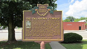 Cowboy Copas - Reverse side of marker