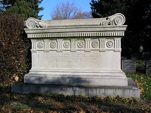 Addison Brown - The sarcophagus of Addison Brown in Woodlawn Cemetery