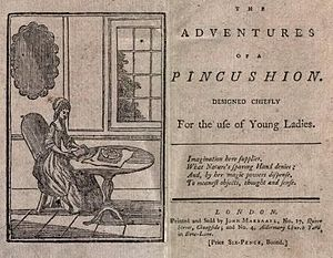 Mary Ann Kilner - An early edition of Adventures of a pincushion