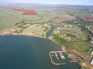 Hanapepe, Hawaii - Aerial view of Hanapepe