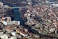Aerial shot of the rebuilt bridge in Mostar (1997).JPEG
