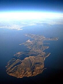 Veduta erea dell'Isola d'Elba