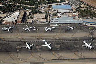 Mehrabad International Airport - Image: Aerial view of Mehrabad International Airport