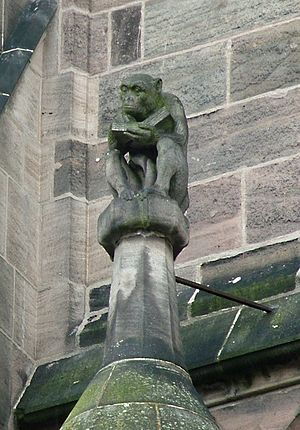Grotesque (architecture) - Image: Affe Lorenzkirche