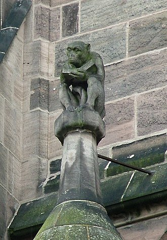 Grotesque (architecture) - Image: Affe Lorenzkirche