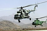 Afghan MI-17 helicopters