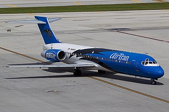 Boeing 717 - The first was delivered to AirTran Airways in September 1999, as the last in May 2006
