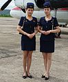 Air Koryo Stewardesses for Antonov 24 Charter Flight (cropped).jpg