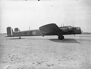 No. 10 Operational Training Unit RAF - A Whitley taxiing at Abingdon.