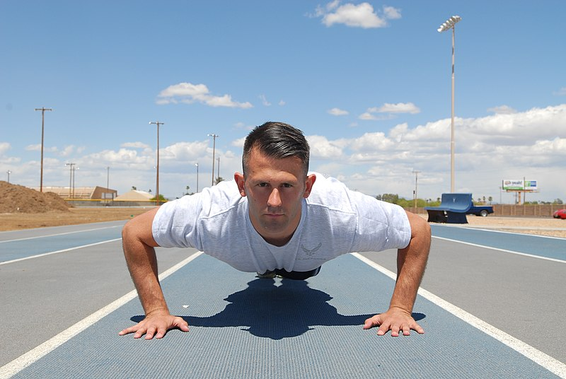 File:Airman doing pushup.JPG