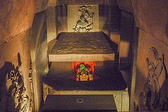 K'inich Janaab' Pakal - A reconstruction of Pakal's tomb in the Museo Nacional de Antropología.