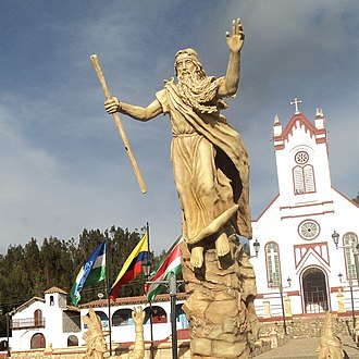 Muisca - Monument to Bochica in the town of Cuítiva, Boyacá
