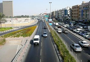 D 92 road (United Arab Emirates) - Image: Al Khaleej Road on 26 December 2007