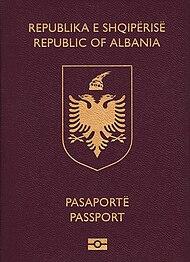 Albanian passport