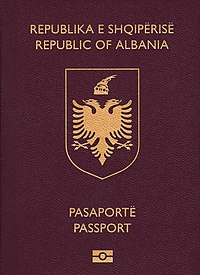 Albanian biometric passport (crop).jpg