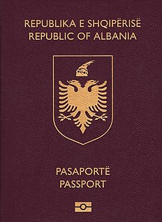 Albanian passport Passport of the Republic of Albania issued to Albanian citizens