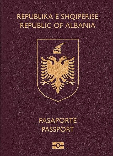 File Albanian Biometric Passport Crop Jpg Wikimedia