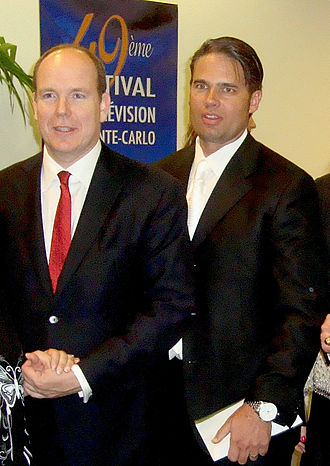 Arick Wierson - Arick Wierson (right) alongside Albert II, Prince of Monaco (left) at the 2009 Monte-Carlo Television Festival