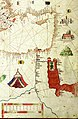 Albino de Canepa. The east of 1489 Portolan Chart. From the Black Sea at the top to the Red Sea at the bottom.F.jpg
