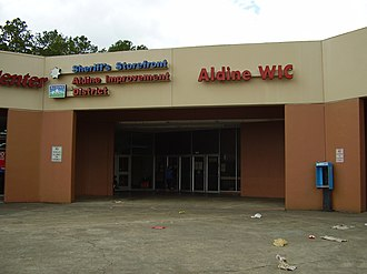 Aldine, Texas - Harris County Sheriff's Office storefront and Aldine Improvement District office