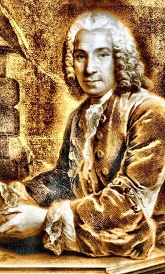 Alexandre Le Riche de La Poupelinière - Alexandre Le Riche de La Pouplinière on an engraving by Jean-Joseph Baléchou after a painting of Louis Vigée (detail)