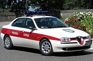 Civil Police (San Marino) - Image: Alfa Romeo 156 della Polizia Civile